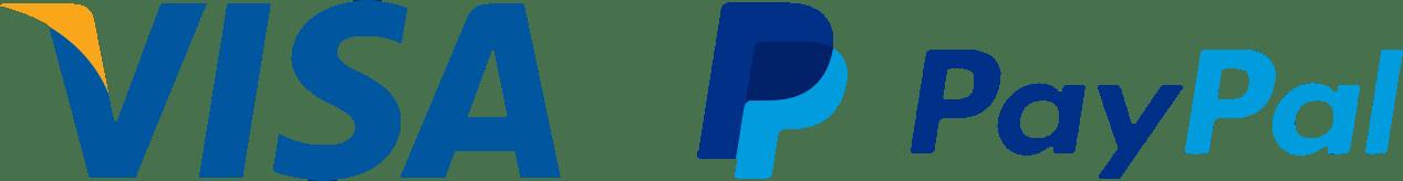 Visa y Paypal logos