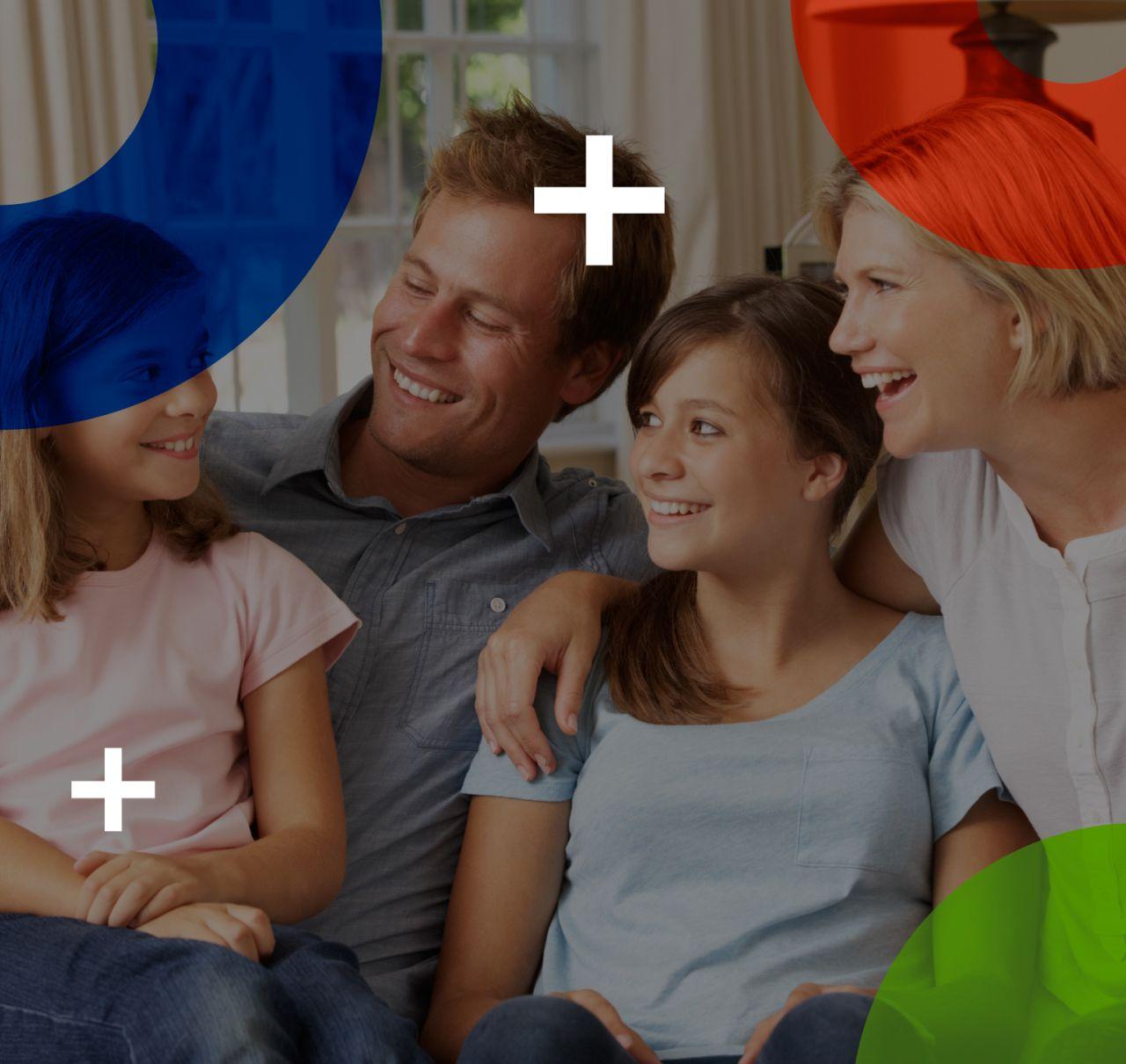 Familia con comunicación saludable curso de inteligencia emocional