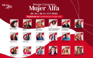 ponentes del primer congreso mujer alfa 2021 ieie