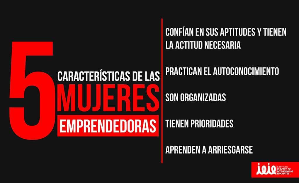 Las 5 características de las mujeres emprendedoras