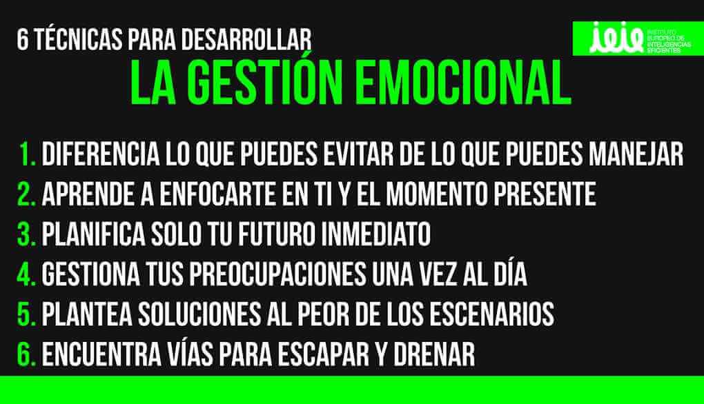 infografia desarrollar la gestion emocional ieie